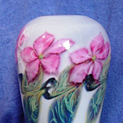 David Lotton Clematis Art Glass Vase