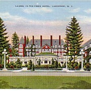 A vintage  postcard of Lakewood, NJ.