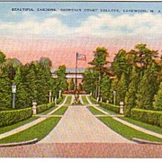 A vintage postcard of Beautiful Gardens in Lakewood, NJ.