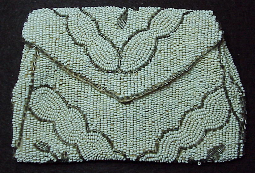 A vintage Belgium hand made beaded belt change purse!