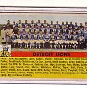 A Vintage 1960 Detroit Lions Football Team Trading Card, Topps # 92
