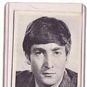 A Vintage Beatles Entertainment B+W Picture Trading Card, Topps # 2 of John