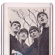 A Vintage Beatles Entertainment B+W Picture Trading Card, Topps # 13 with All Beatles