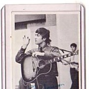 A Vintage Beatles Entertainment B+W Picture Trading Card, Topps # 44 of John