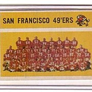 A Vintage 1956 Trading Card, Topps  # 122 San Francisco 49'ers Team