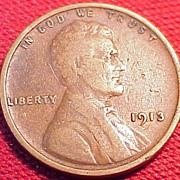 A vintage United States 1913 Wheat Penny