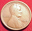A vintage United States 1912 Wheat Penny
