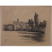 Original Signed Presentation Proof Etching of Country House by Philadelphia artist Harry Hampshire - 1911, Philadelphia USA