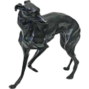 Austrian Bronze Hound Figure Sculpture - c. 20th Century, Austria