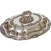 English Silver Plated Entree Dish and Cover marked Smith, Sissons & Co. - 19th /20th Century,