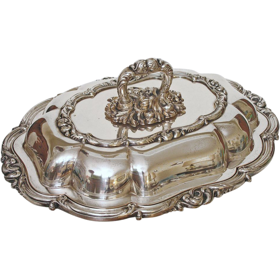 English Silver Plated Entree Dish and Cover marked Smith, Sissons & Co. - 19th /20th Century, England