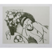 Limited Edition Lithograph 'Reclining Woman' Signed Post Impressionist Italian Artist Aldo Salvadori - 20th Century, Italy