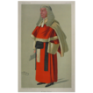 Original Color Lithograph Cartoon Judge Red Robe Signed by Artist Sir Leslie Ward &quot;Spy&quot; - 1890, England