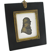 Antique Miers & Field Silhouette Miniature Portrait of Gentleman in Profile - c. 1800's, Engla