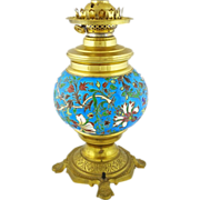 Longwy Enamel Faience and Bronze Lamp Base - c. 1900's, France