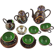 Japanese Cloisonne Tea Set Meiji Period Signed - 1868 to 1912, Japan