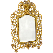 Bradley & Hubbard Bacchus Mirror with Original Bevelled Glass Neoclassic - c. 19th Century, US