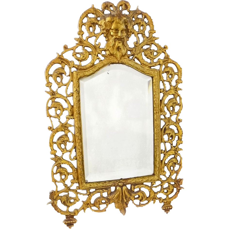 Bradley hubbard bacchus mirror with original bevelled for Bradley mirror