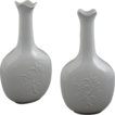"Matched Pair Royal Copenhagen White on White Bottles 9.4"" - 1944/1945, Denmark"