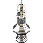 English Octagonal Silverplate Sugar Caster - 20th Century, England
