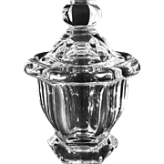Baccarat Crystal Lidded Jar and Spoon - 20th Century, France