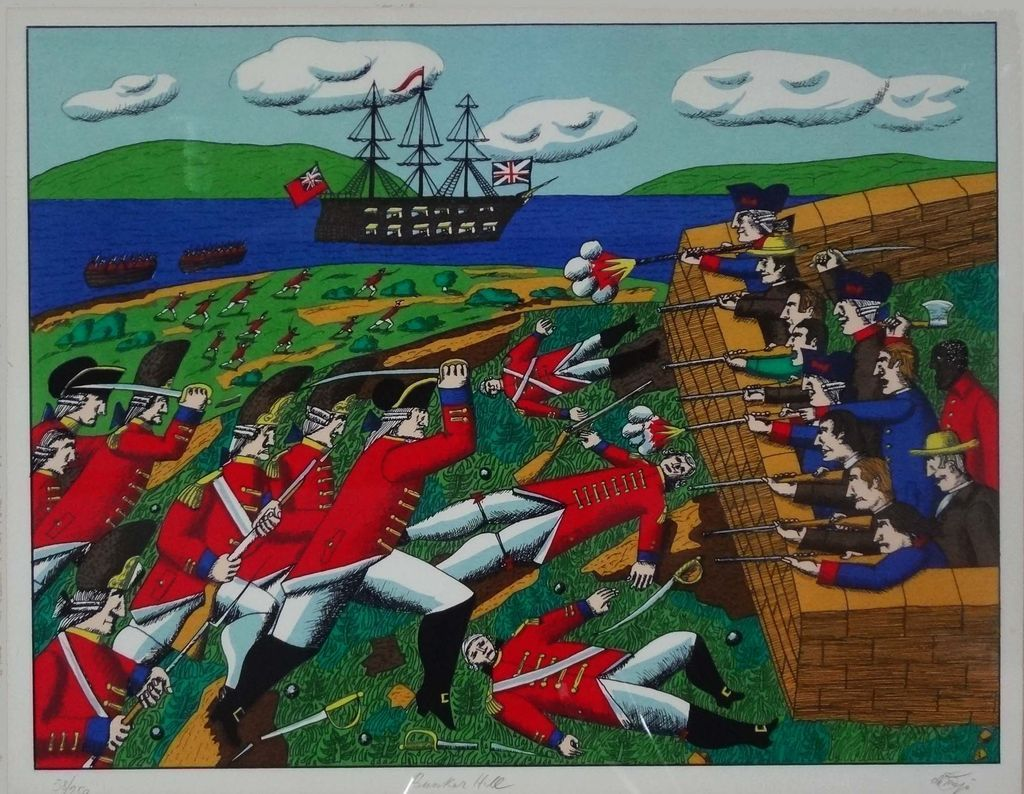 Bunker Hill Authenticated Signed Amp Numbered Serigraph De