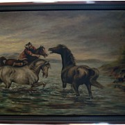 Original Oil of Horses