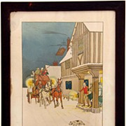 Harry Eliott  (1882 - 1959) Signed Watercolor Original