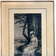 Signed Engraving by A T Bricher