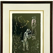 "Marc Chagall Signed and Numbered Lithograph ""Nuit De Ete"""