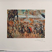 Salvador Dali Hand Signed and Numbered Lithograph