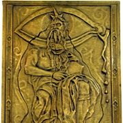 Salvador Dali Signed Bronzed Bas Relief Sculpture of Moses