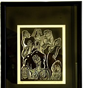 "Eric Gill Wood Block Print ""Voodoo"" Hand Signed Artist Proof"