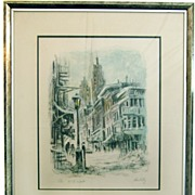 "John Kelly Signed and Numbered Lithograph Titled ""N. Y. Winter"""