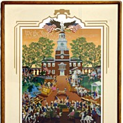 "Melanie Taylor Kent Signed and Numbered Lithograph ""We the People"""