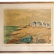 Maurice Armand Buffet Signed and Numbered Lithograph