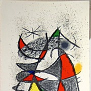 Signed and Joan Miro  Artist Proof Lithograph
