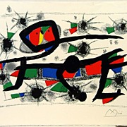 Signed Lithograph Artist Proof by Joan Miro