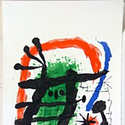 Signed Artist Proof Lithograph of an Owl by Joan Miro