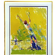 Signed and Numbered LeRoy Nieman Lithograph of Tennis Players