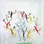 Signed and Numbered Picasso Lithograph of Peace Dancers