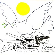 "Signed and Numbered Picasso Lithograph ""Peace Dove"""