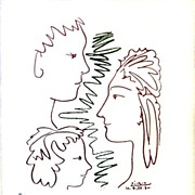 Signed and Numbered Picasso Lithograph - The Family