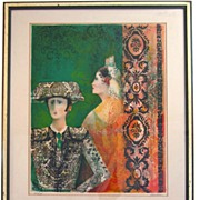 Rivera Signed and Numbered Lithograph with Certificate of Authentication