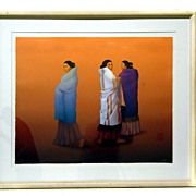 "Signed and Numbered R.C. Gorman Lithograph Titles ""Whispers"""