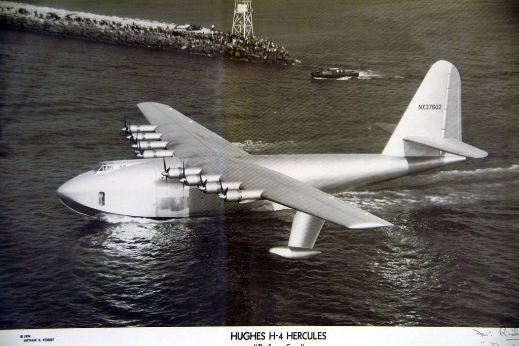Spruce Goose Photograph Signed By Arthur K. Forrest From Aa1antiques