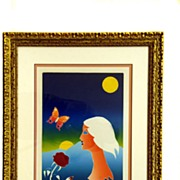 "Tom Wesselmann Signed and Numbered Lithograph ""The Twilight Garden"""