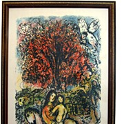 Marc Chagall Plate Signed Advertising Poster