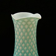 Blue Satin Glass Vase