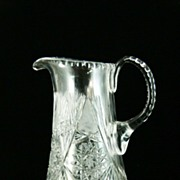 Cut Glass Crystal Pitcher